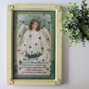 Other - Framed Irish Prayer Vintage Shamrock Wall Art